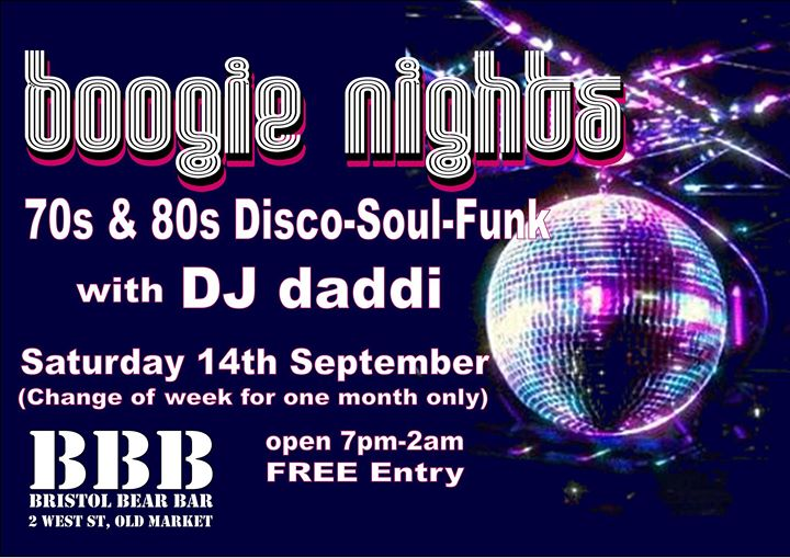 Boogie Nights in Bristol le Sat, September 28, 2019 from 09:00 pm to 02:00 am (Clubbing Gay, Bear)