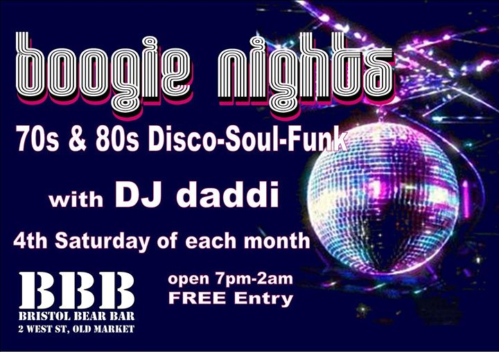 Boogie Nights in Bristol le Sat, December 28, 2019 from 09:00 pm to 02:00 am (Clubbing Gay, Bear)