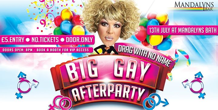 Big Gay Afterparty at Mandalyns Bath with Drag With No Name à Bristol le sam. 13 juillet 2019 de 20h00 à 04h00 (Clubbing Gay, Lesbienne)