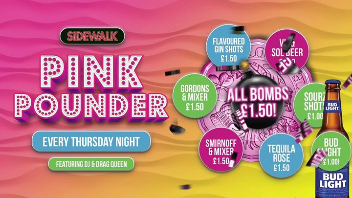 Pink Pounder a Birmingham le gio  9 gennaio 2020 18:00-01:00 (After-work Gay)