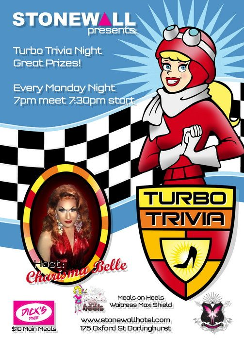 Turbo Trivia en Sydney le lun 18 de noviembre de 2019 12:00-00:00 (After-Work Gay)