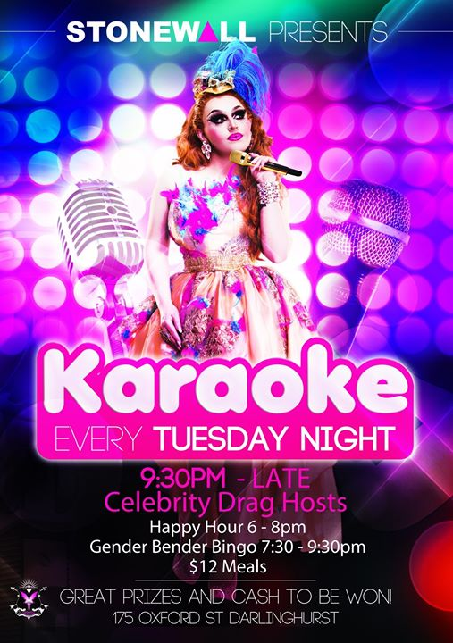 Karaoke in Sydney le Tue, December 10, 2019 from 12:00 pm to 03:30 am (Clubbing Gay)