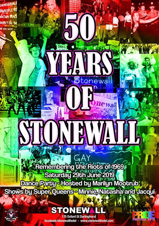 50 Years of Stonewall Pride Party in Sydney le Sat, June 29, 2019 from 08:00 pm to 04:00 am (Clubbing Gay)