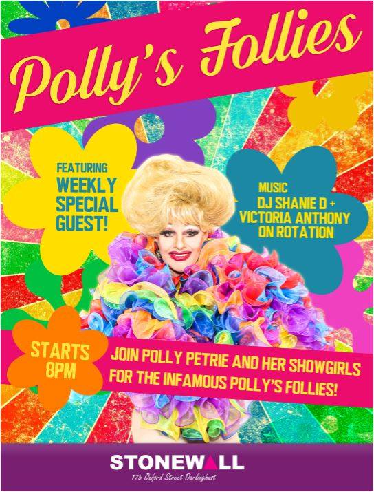 Polly's Follies à Sydney le dim. 18 août 2019 de 07h30 à 22h30 (After-Work Gay)