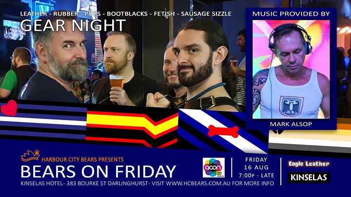 Friday Bears Gear Night feat Mark Alsop à Sydney le ven. 16 août 2019 de 19h00 à 00h00 (After-Work Gay, Bear, Bi)