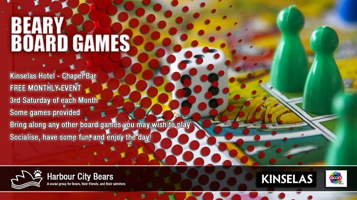 Beary Board Games à Sydney le sam. 15 juin 2019 de 12h00 à 17h00 (After-Work Gay, Bear, Bi)