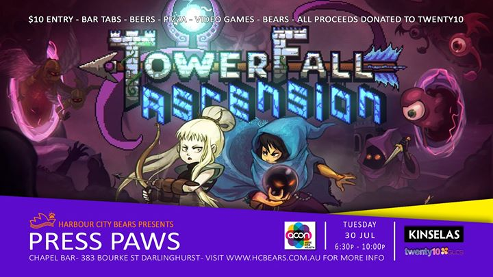 Press Paws - Towerfall Ascension à Sydney le mar. 30 juillet 2019 de 18h30 à 22h00 (After-Work Gay, Bear, Bi)