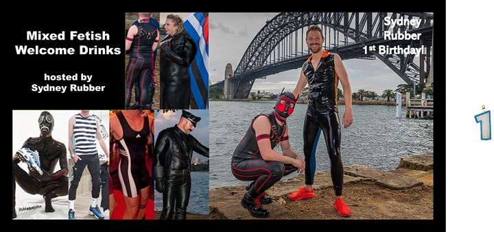 Mixed Fetish Welcome Drinks- hosted by Sydney Rubber a Sydney le ven 20 settembre 2019 20:00-23:00 (After-work Gay, Orso)