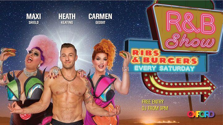 R&B Show: Ribs & Burgers en Sydney le sáb 15 de junio de 2019 21:00-00:00 (Espectáculo Gay)