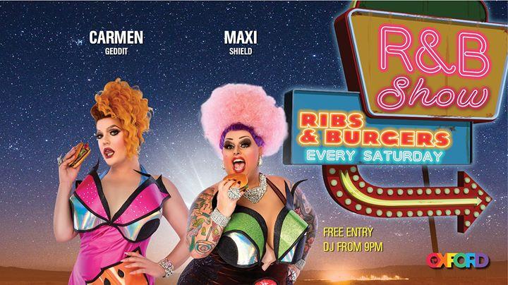 R&B Show: Ribs & Burgers en Sydney le sáb  9 de noviembre de 2019 21:00-00:00 (Espectáculo Gay)
