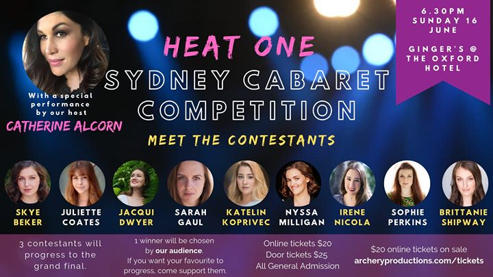 Sydney Cabaret Competition - HEAT 1 in Sydney le Sun, June 16, 2019 from 06:30 pm to 09:30 pm (Show Gay)