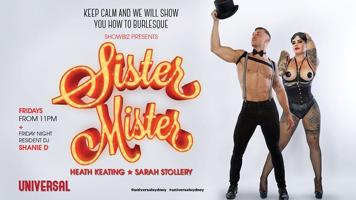 Sister Mister in Sydney le Fri, August  9, 2019 from 10:00 pm to 01:00 am (After-Work Gay)