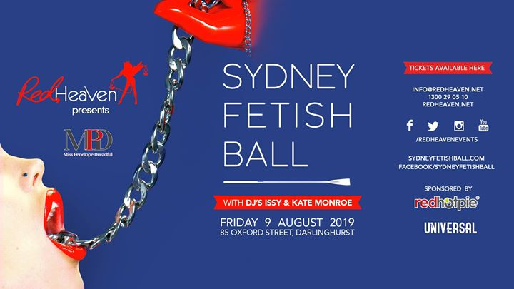 Sydney Fetish Ball in Sydney le Fri, August  9, 2019 from 08:00 pm to 03:00 am (Clubbing Gay)