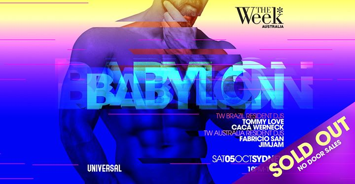 The Week Australia pres. Babylon (SOLD OUT) in Sydney le Sat, October  5, 2019 from 10:00 pm to 10:00 am (Clubbing Gay)