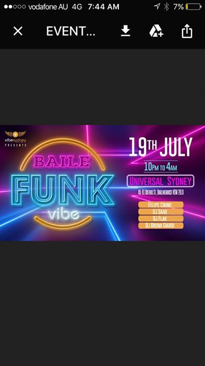 Baile Funk in Sydney le Fri, July 19, 2019 from 10:00 pm to 04:00 am (Clubbing Gay)