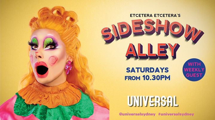 Sideshow Alley in Sydney le Sat, August  3, 2019 from 10:30 pm to 12:30 am (After-Work Gay)