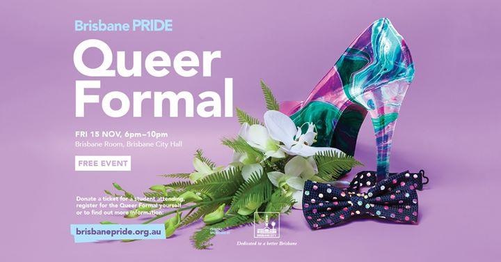 Brisbane Pride Queer Formal 2019 a Brisbane le ven 15 novembre 2019 18:00-22:00 (Incontri / Dibatti Gay, Lesbica, Trans, Bi)