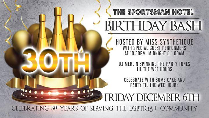布里斯班Sporties 30th Birthday Bash2019年 9月 6日,21:00(男同性恋 俱乐部/夜总会)