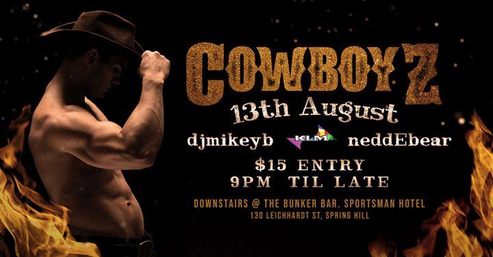Cowboyz em Brisbane le ter, 13 agosto 2019 21:00-03:00 (Clubbing Gay)