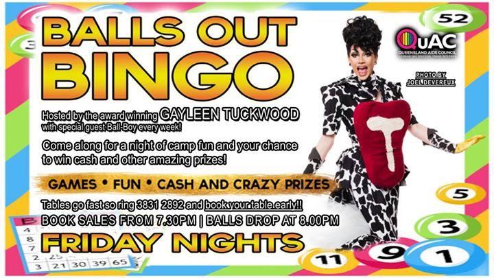 Balls Out Bingo en Brisbane le vie 13 de diciembre de 2019 20:00-22:00 (After-Work Gay)