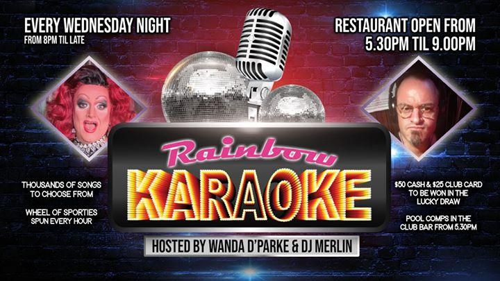 布里斯班Rainbow Karaoke (Mid-week)2019年10月 4日,22:00(男同性恋 下班后的活动)