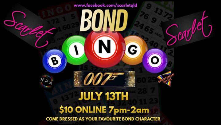 SCARLET - BOND BINGO 007 à Brisbane le sam. 13 juillet 2019 de 19h00 à 02h00 (Clubbing Gay)