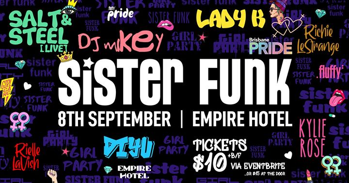 Sister Funk | Sunday 8th September à Brisbane le dim.  8 septembre 2019 de 16h00 à 00h00 (After-Work Gay Friendly)