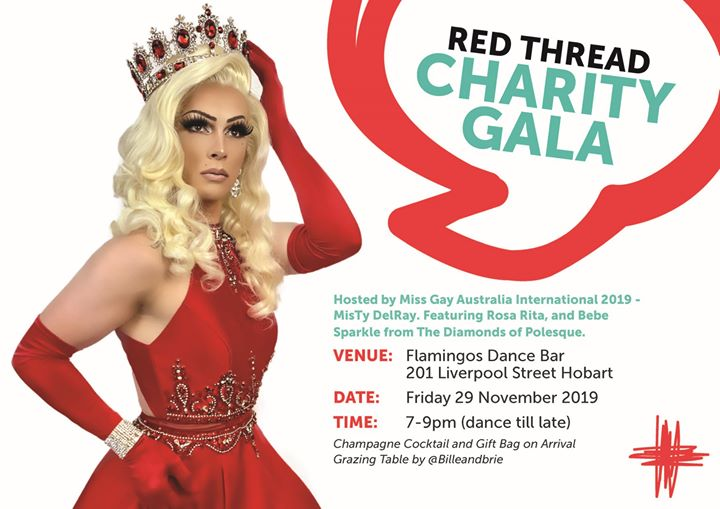 Red Thread Charity Gala in Hobart le Fri, November 29, 2019 from 07:00 pm to 11:30 pm (After-Work Gay, Lesbian, Trans, Bi)