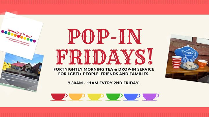 Pop-In Fridays! - Hobart in Hobart le Fri, October 18, 2019 from 09:30 am to 11:00 am (Meetings / Discussions Gay, Lesbian, Trans, Bi)