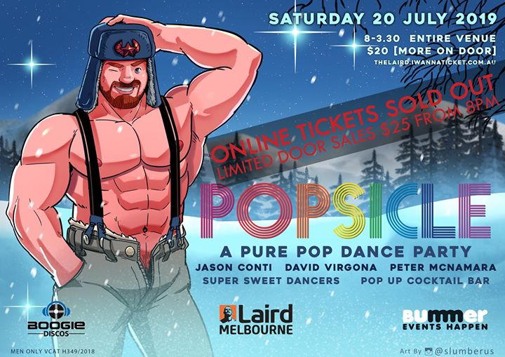 Popsicle - Pure Pop in Melbourne le Sat, July 20, 2019 from 08:00 pm to 03:30 am (Clubbing Gay)