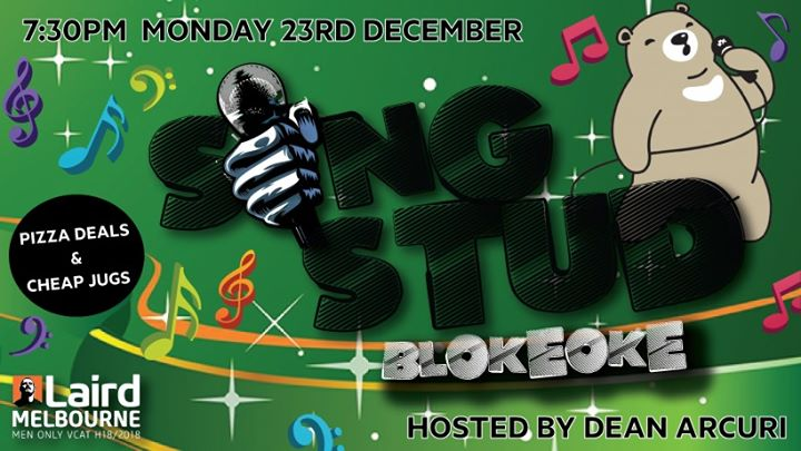 SING STUD : Blokeoke December à Melbourne le lun. 23 décembre 2019 de 19h30 à 23h30 (After-Work Gay)