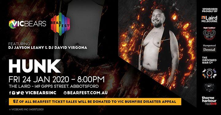 BearFEST 2020 - HUNK in Melbourne le Fr 24. Januar, 2020 20.00 bis 03.00 (Clubbing Gay)