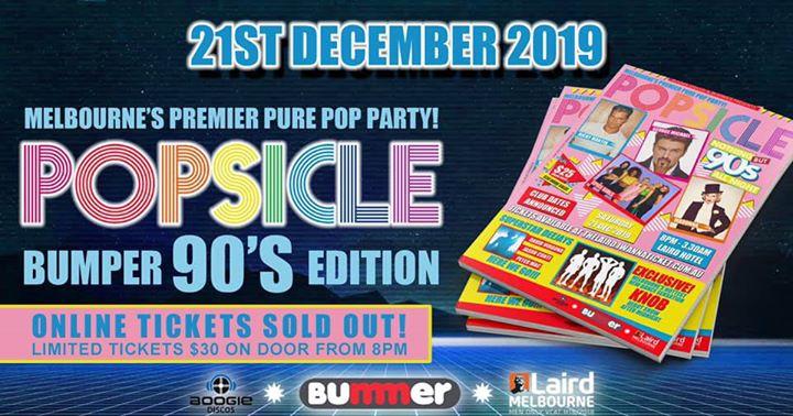 Popsicle Bumper 90's Edition in Melbourne le Sa 21. Dezember, 2019 20.00 bis 03.30 (Clubbing Gay)
