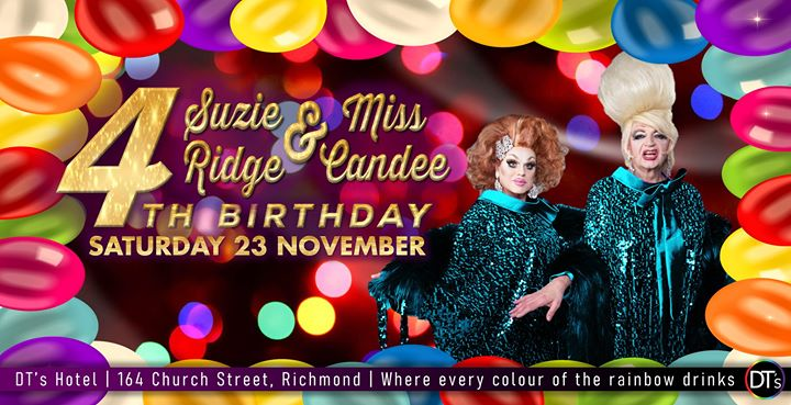 Suzie & Candee - Celebrating 4 years at DT's Hotel em Melbourne le sáb, 23 novembro 2019 17:00-01:00 (After-Work Gay)