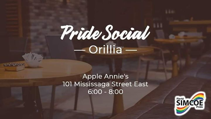 Pride Social - Orillia in Orillia le Thu, November 28, 2019 from 06:00 pm to 08:00 pm (After-Work Gay, Lesbian)