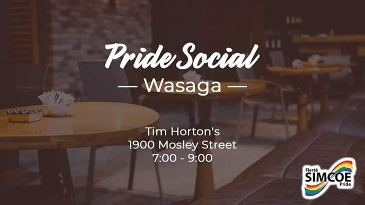 Pride Social - Wasaga en Wasaga Beach le mar  4 de agosto de 2020 19:00-21:00 (Reuniones / Debates Gay, Lesbiana)