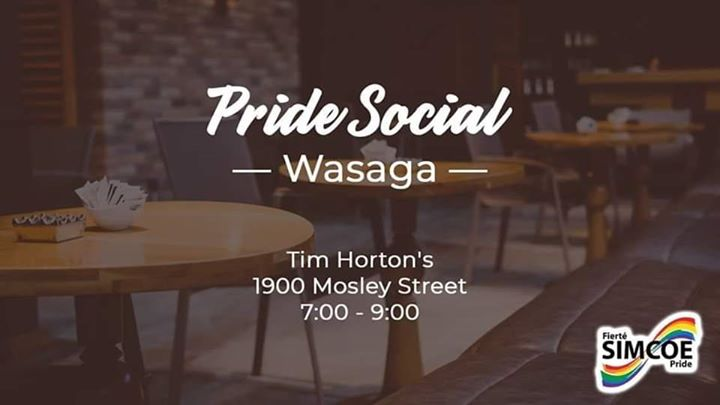 Pride Social - Wasaga in Wasaga Beach le Tue, June  2, 2020 from 07:00 pm to 09:00 pm (Meetings / Discussions Gay, Lesbian)