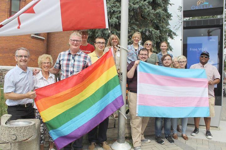 Pride Flag Raising - Orillia in Orillia le Tue, August  6, 2019 from 11:00 am to 11:30 pm (Festival Gay, Lesbian)