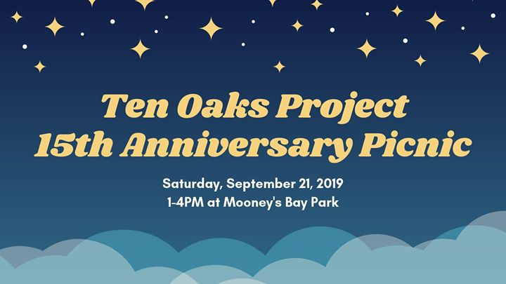 The Ten Oaks Project Turns Fifteen! in Ottawa le Sat, September 21, 2019 from 01:00 pm to 04:00 pm (Picnic Gay, Lesbian, Trans, Bi)
