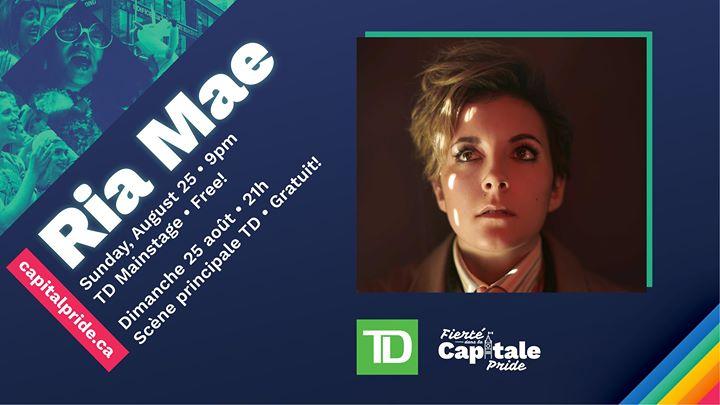 Ria Mae at Capital Pride • Ria Mae à Fierté dans la Capitale in Ottawa le Sun, August 25, 2019 from 09:00 pm to 10:00 pm (Festival Gay, Lesbian, Trans, Bi)