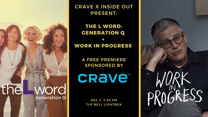 The L Word: Generation Q + Work in Progress Premiere (FREE) in Toronto le Tue, December  3, 2019 from 07:30 pm to 10:30 pm (After-Work Gay, Lesbian, Trans, Bi)