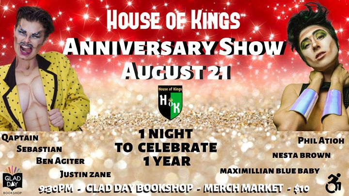House of Kings: The Anniversary Show a Toronto le mer 21 agosto 2019 21:30-01:00 (Spettacolo Gay, Lesbica, Trans, Bi)