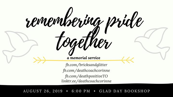 Remembering Pride Together in Toronto le Mo 26. August, 2019 18.00 bis 20.00 (After-Work Gay, Lesbierin, Transsexuell, Bi)