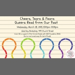 Cheers, Tears & Fears: Queers Read from Our Past à Toronto le mer. 28 mars 2018 de 20h00 à 22h00 (After-Work Gay, Lesbienne, Trans, Bi)