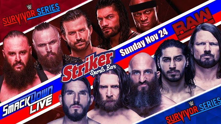 WWE Survivor Series viewing in Toronto le Sun, November 24, 2019 from 07:00 pm to 11:30 pm (After-Work Gay)