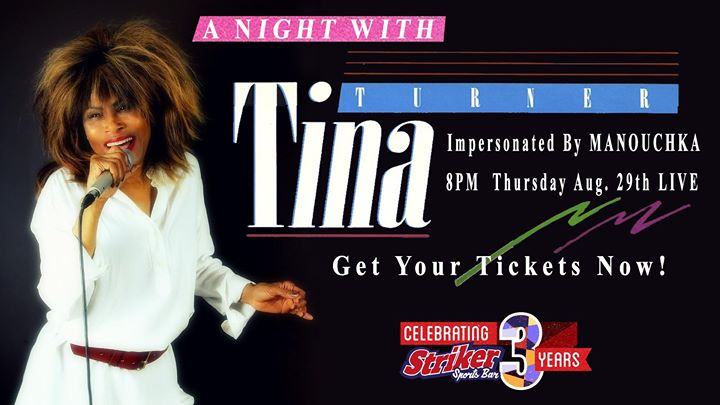 A Night With Tina Turner à Toronto le jeu. 29 août 2019 de 19h00 à 22h00 (After-Work Gay)