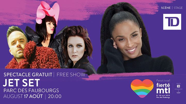 Festival Fierté Montréal - Soirée Jet Set avec CIARA in Montreal le Sat, August 17, 2019 from 08:00 pm to 11:00 pm (Show Gay, Lesbian)