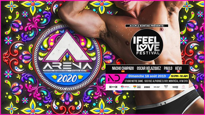 蒙特利尔I Feel Love Festival: ARENA Festival pre-party2019年10月18日,22:00(男同性恋, 女同性恋 俱乐部/夜总会)