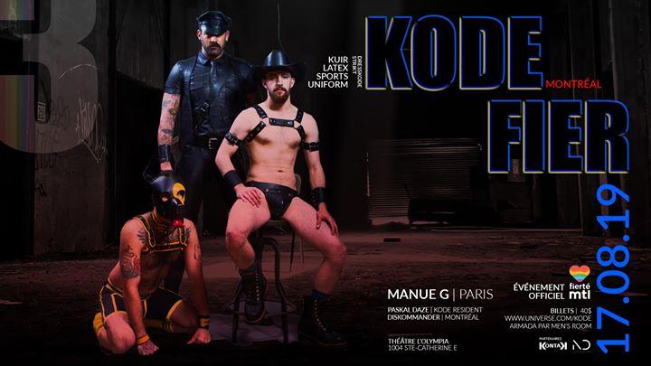 KODE : FIER III à Montréal le sam. 17 août 2019 de 22h00 à 03h00 (Clubbing Gay, Lesbienne)