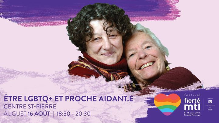 Être Lgbtq+ et proche aidant.e in Montreal le Fri, August 16, 2019 from 06:30 pm to 08:30 pm (Meetings / Discussions Gay, Lesbian)